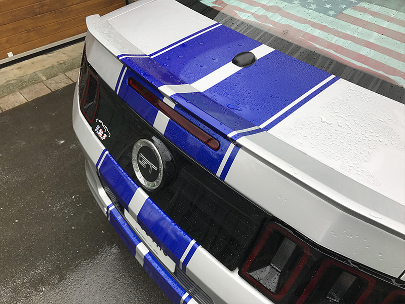 Covering bandes bleues - Mustang